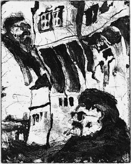 Herwig Zens: Selbst mit Mönch am Athos. 2011