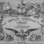 Adolph Menzel, Folge Künstlers Erdenwallen Deckblatt, Lithographie 1834, 37x47,5 cm